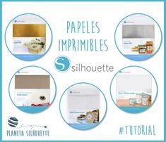 Papeles imprimibles adhesivos de Silhouette #PlanetaSilhouette