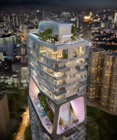 the scotts tower/UNstudio/singapore