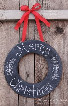this would be so cute to do in chalkboard paint - then you could leave it up always and change the words!