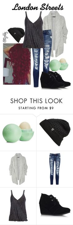 """""""London Streets"""" by ttzoldy ❤ liked on Polyvore featuring Eos, The North Face, Donna Karan, Current/Elliott, Wallis, TOMS, women's clothing, women's fashion, women and female"""