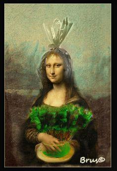 Brus_© Renaissance Artists, Italian Renaissance, Monnalisa Kids, Mona Friends, La Madone, Mona Lisa Parody, Guinness World, Italian Artist, Caricature