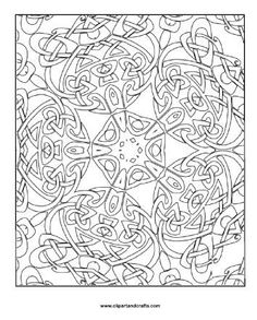 CELTIC KALEIDOSCOPE colouring page from SQUIDOO: Colouring Pages for Adults - this site has lots of links to FREE printable downloads.