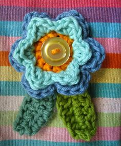 Crochet Flower and Leaves pattern
