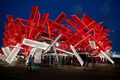 London 2012 Coca-Cola Beat Box pavilion by Chang W. Lee:The New York Times