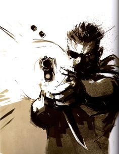 Ashley Wood // Metal Gear Solid //Big Boss//
