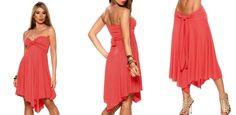 Vestido multiusos Rachel Coral