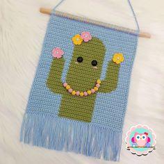 Crochet Wall Art, Crochet Wall Hangings, Crochet Pillow, Tapestry Crochet, Crochet Panda, Crochet For Kids, Knit Crochet, Crochet Patterns Amigurumi, Crochet Blanket Patterns