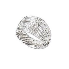 "Maybe a DIY project for me to attempt based off the pict. Original Description: ""Silver Wire Wrap Ring"""