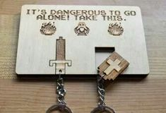 Legend Of Zelda Keychain Hanger . It's dangerous to get locked out – take one of these Legend Of Zelda keychains off this hanger! The Legend Of Zelda, Zelda Gifts, Ceramic Pots, Geek Out, Game Room, Nerdy, Hanger, Geek Stuff, Cool Stuff