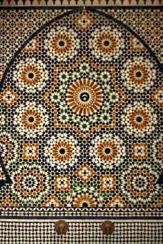 Beautiful tile work from Morocco