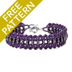 Just Rollin' Along Bracelet Pattern for CzechMates | Fusion Beads. Free with purchase. Beginner pattern.