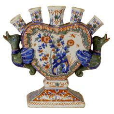 Dutch Delft Tulip Vase