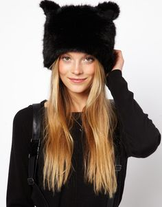Faux Fur Ears Cossack Hat