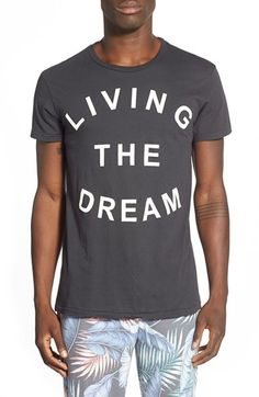 Free shipping and returns on Sol Angeles 'Living The Dream' Graphic T-Shirt at Nordstrom.com. One day at a time, amirite? Let everyone know you're here for the good times in this casual crewneck T-shirt made in America from pure cotton.