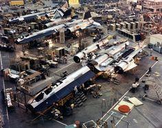 """SR-71 production line at the """"Skunk Works"""""""