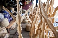 Swazi botanicals are skillfully carved out of Jacaranda wood by the Swazi people using a chainsaw. Group them in a courtyard or use them within your home to hang items on. Carving, Ladders, Chainsaw, Detail, Wood, Farmhouse, Posts, Inspiration, Group