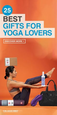Top 25 Gifts for Yoga Lovers: Unique Present Ideas for the Yogi. These top yoga gift ideas are perfect for the yoga lovers out there! #Yoga #GiftGuide #HealthyLiving