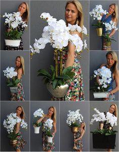 Vases Decor, Plant Decor, Orchid Flower Arrangements, Diy Pallet Furniture, Front Yard Landscaping, Flower Decorations, Landscape Design, Floral Wreath, Garden