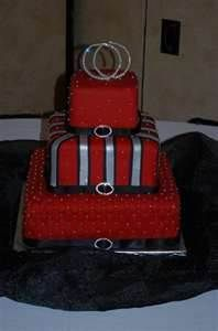 Image Search Results for red black silver wedding