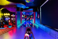 Amazing game room for the kids -and kids at heart!