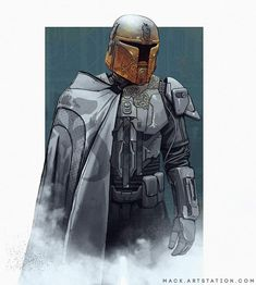 Mandalorian Concept Art - Created by Mack Sztaba - Emu Grace. Mandalorian Concept Art - Created by M Star Wars Fan Art, Rpg Star Wars, Star Wars Concept Art, Star Trek, Concept Art World, Images Star Wars, Star Wars Characters Pictures, Star Citizen, Thrawn Star Wars