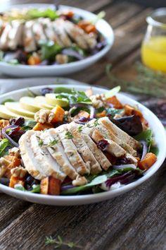 Harvest Chicken Salad | fall salad recipes | healthy salad recipes | chicken salad recipes | Whole30 salad recipes | gluten free salad recipes | dairy free salad recipes | paleo salad recipes || The Real Food Dietitians