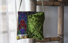 Unique Boho Hipster Ethnic Shoulder Bag by YasminEthnicJewelry