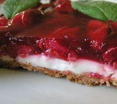 Cherry pana cotta tart