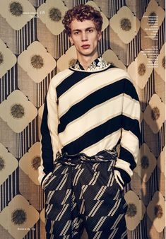 Robbie G at Tomorrow is Another Day shot by Sharif Hamza and styled by Darcy Backlar, for the latest issue of Vogue Hommes International.