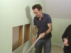 <em>Wasted Spaces</em> host Karl Champley gives instructions on how to build a changing table that folds into the wall and takes up zero floor space.