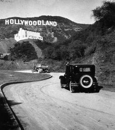 "The Hollywood Sign originally read ""Hollywoodland"" before being shortened in 1945. It was intended only to last a year and a half, but after the rise of the American cinema in Los Angeles during the Golden Age of Hollywood, the sign became an internationally recognized symbol, and was left there."