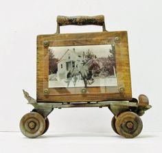 vintage roller skate photo holder
