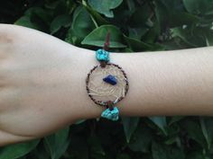 Handmade turquoise and aventurine dreamcatcher adjustable bracelet from CrystalAndVein on Etsy! https://www.etsy.com/listing/203430804/turquoise-and-blue-aventurine #dreamcatcher #turquoise #stone #handmade #jewelry #bracelet #boho #leather #adjustable #crystalandvein #wirewrapped #hipster