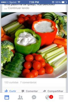 Bell pepper dip cup for veggie platter. Not mine, but looked exactly like this.
