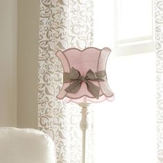 Pink Lamp Shade with Sash | Carousel Designs  Super cute, but I'm sure I am able to make one cheaper! :)