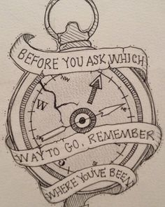 Awesome twist to the normal compass idea, and it fits well with how I feel about life.
