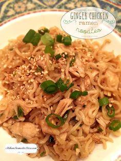Easy Ginger Chicken Ramen Noodles
