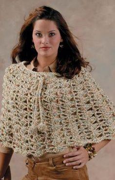 shell poncho - free crochet pattern