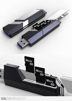 "cool multi micro sd thumb drive writerman-js: "" (via 9GAG - Collector USB Flash Drive) """