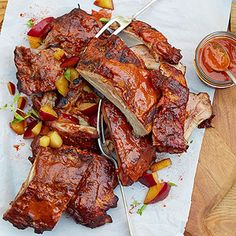 Baby Back Ribs with Plum BBQ Sauce