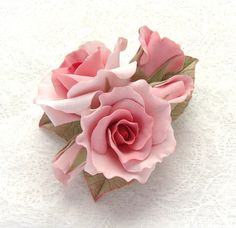 I want my clay roses to look like these!