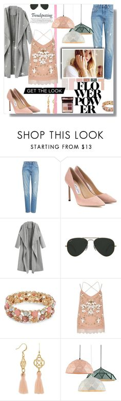 """""""Moments of January"""" by madhu-147 ❤ liked on Polyvore featuring Levi's, Jimmy Choo, Ray-Ban, Design Lab, River Island and Charlotte Tilbury"""