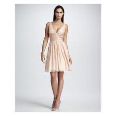 Women's Aidan Mattox Sleeveless V-Neck Dress