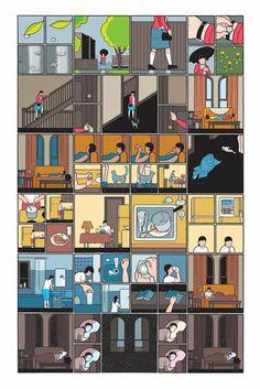 Single print of the Building Stories Project - Chris Ware - Griffioen Grafiek