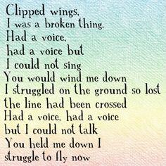 "Sia- ""Bird Set Free"" Powerful words and a beautiful singer song-writer! Sia Lyrics, Free Lyrics, Love Songs Lyrics, Lyric Quotes, The Words, Bird Set Free, Music Heals, Free Quotes, Powerful Words"