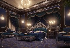 European Style Luxury Carved Bedroom Set - Top and Best Classic Furniture and Classical interior Design Italian Companies master bedroom