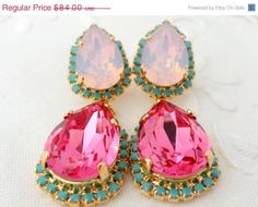 BLACK FRIDAY SALE Pink and pink opal with by EldorTinaJewelry, $75.60