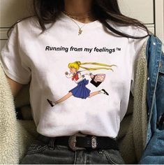 """Free shipping """"Running from my feelings"""" print tees #PR846 sold by Yourfashionsandcute. Shop more products from Yourfashionsandcute on Storenvy, the home of independent small businesses all over the world."""