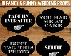 Wedding Photo Booth Props 18 Funny Printable Signs For A Diy Photobooth Fancy Retro