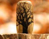 Dreadlock Bead - Winter Tree with Owl Dreadlock Beads, Dread Beads, Hair Beads, Blonde Dreadlocks, Locs, Dreadlock Accessories, Hair Accessories, Hippie Dreads, Dread Jewelry